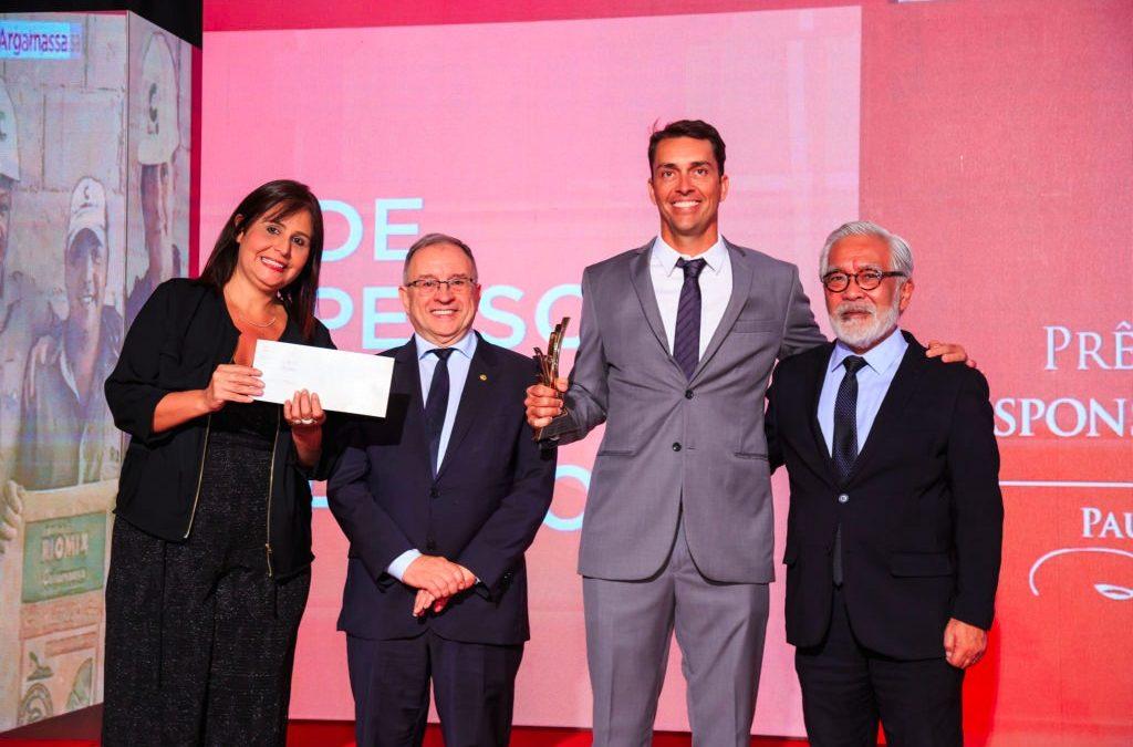 Riomix Argamassa é a grande vencedora do Prêmio CBIC de Responsabilidade Social 2019